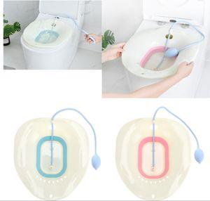 Sitzbad mit Flusher Toilette Perineal Einweichbad für Hämorrhoidenentlastung