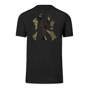 MLB New York Yankees NY T-Shirt Backer Club black Camo Logo Camoflage Baseball