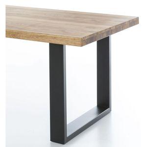 Esstisch Tisch Klara 200x100cm Eiche geölt  U-Profil Schwarz