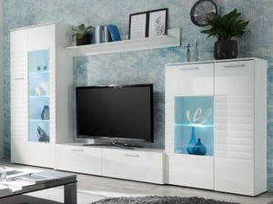 "Wohnwand TV-Wand Anbauwand Mediawand Schrankwand Wohnzimmerwand ""New Jersey I"""