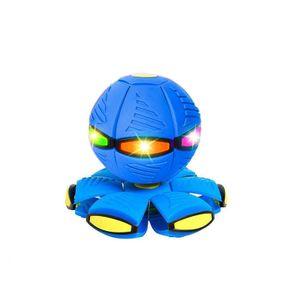 Magischer UFO-Ball  Mit LED Licht , Fliegende Untertasse Ball, Magisches Verformungslicht UFO-Spielzeug, Spielzeug für Kinder im Freien, Garten, Strand(blau)