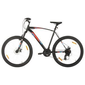 Mountainbike 21 Gang 29 Zoll Rad 58 cm Rahmen Schwarz