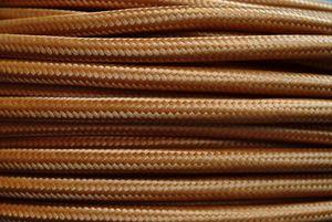 Textil Stromkabel 2x0,75mm² Englisch Gold