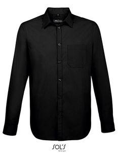 SOLS Herren Hemd Baltimore Fit Shirt 02922 Schwarz Black L