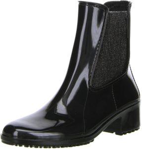 M&G Damen Stiefeletten Gummistiefeletten schwarz, Größe:39, Farbe:Schwarz