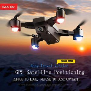 SMRC S20 1080P 120 ° Weitwinkel Wifi FPV 2.4G GPS RC Spielzeug Quadcopter Faltbare Drohne