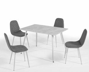 Mattina Tisch mit 4 Mattina Stuhl