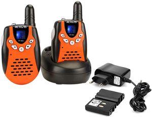 Retevis RT602 Walkie Talkie, 2 Stücke Kinder PMR446 Kinder Funkgeräte, mit wiederaufladbare Akkus Taschenlampe LCD-Display Spielzeug Weihnachtsgeschenk für Kinder