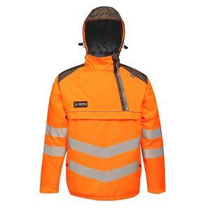 Regatta Herren Hi Vis Warnjacke, reflektierende Details, Neonfarben RG3988 (M) (Orange/Grau)