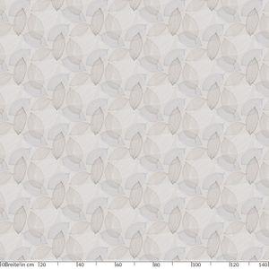 Laube Blätter Grau Oval 180x140cm Wachstuch Tischdecke eingefasst