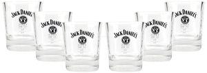 Jack Daniels Tumbler Whiskey Rum Glas Gläser Set - 6x Tumbler 2/4cl geeicht