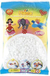 Hama Bügelperlen midi weiß im Beutel 5,0 mm 3.000 Bügelperlen