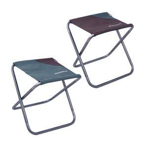 2er Pack Outdoor Hocker Faltbar, Camping Aluminium Klapphocker Kompakt (26 x 30 x 30 cm)