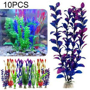 10X Aquariumpflanzen Künstliche- Aquarium Fisch Behälter Deko Pflanzen Wasserpflanzen 30cm