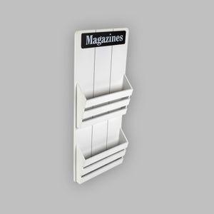 MAGAZINES Zeitungsständer Zeitungshalter Magazinhalter Magazinständer Holz Weiß