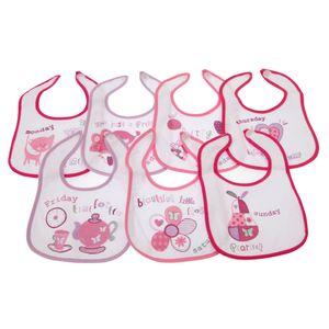 Baby 7 Wochentage Lätzchen für Jungen und Mädchen, 7 Stück BABY806 (0-6 Monate) (Pink)