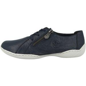 Rieker Damen Halbschuhe Sneaker Schnürschuhe 58821, Größe:38 EU, Farbe:Blau