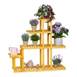 relaxdays XL Blumenregal Holz mit 5 Etagen