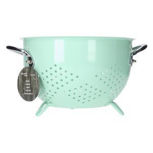 Seiher groß Ø 200 mm Koch-Sieb Nudelsieb Küchen-Zubehör - Verschiedene Farben, Farbe:mintgrün