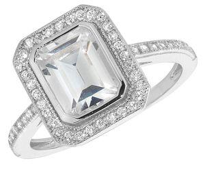 Eleganter 925 Sterling Silber Solitär Verlobung Damen - Ring mit Zirkonia,, 53 (16.9); WJS22329