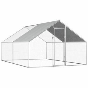 vidaXL Outdoor-Hühnerkäfig 2,75×4×1,92 m Verzinkter Stahl