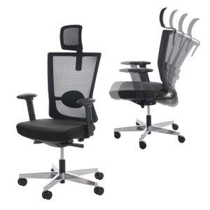 Bürostuhl MERRYFAIR Forte, Schreibtischstuhl, Sliding-Funktion ergonomisch  schwarz, mit Kopfstütze