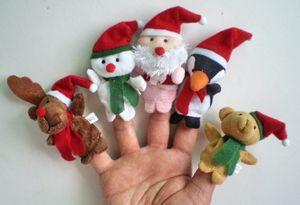 5 x Weihnachts Fingerpuppen. 5 verschiedeneVariationen: Rentier, Schneemann, Weihnachtsmann, Pinguin und Teddy Bär