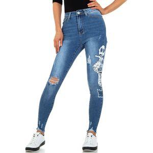 Ital-Design Damen Jeans High Waist Jeans Blau Gr.36