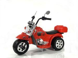 Kinder Elektro Polizei Motorrad Fahrzeug Kindermotorrad Akku Harley Motorrad Elektromotorrad , Farbe:Rot
