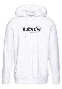 Levis T2 Relaxed Graphic Herren Hoodie, Farbe:Weiß, Größe:S