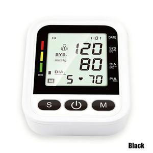 Arm Elektronisches Blutdruckmessgeraet Tragbares Blutdruckmessgeraet Herzfrequenzalarm mit automatischer digitaler LCD-Anzeige Intelligente Druckbeaufschlagung Voice Broadcast Intelligentes Blutdruckmessgeraet