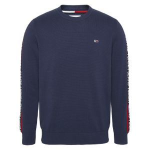 Tommy Hilfiger Herren Sweatshirt Sleeve Tape Blau M