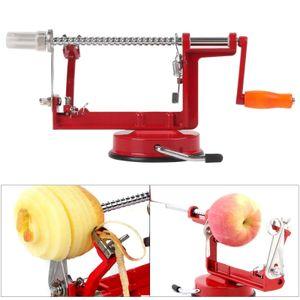 Miixia 3 in 1 Edelstahl Apfelschäler Apfelschneider Apfelentkerner Apfelschälmaschine