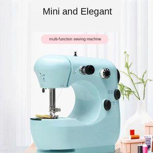 Mini Elektrische Nähmaschine Doppelfäden, Mini-Elektro-Sewing Machine tragbar mit 10m Gummiband