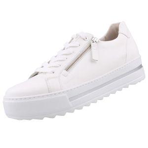 GABOR Comfort Damen Plateau Sneaker Weiß, Schuhgröße:EUR 40.5