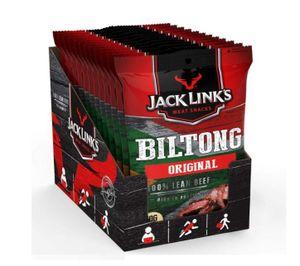 JACK LINK´S Biltong Original 12x40g Trockenfleisch Rind Protein Fitnesssnack
