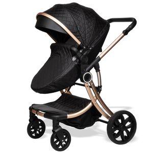 ib style Juma 3 in 1 Kinderwagen  inkl. Babyschale   Schwarz