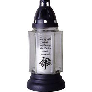 HScandle Grabkerze aus Glas 24cm (Lyrica 1) inkl. Kerze ca. 40h Brenndauer