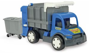 GIGANT  Truck Müllwagen orange- silber