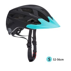 Kinderhelm Fahrradhelm Schutzhelm mit LED Kinder Junior Fahrrad Helm | Spielwerk, Farbe/Größe:Schwarz-Blau S