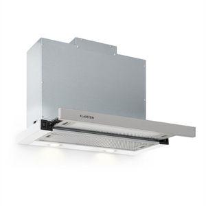 Klarstein Mariana 60 Flachschirmhaube , 60 cm , EEK C , 500 m³/h , Umluft & Abluft , LED-Beleuchtung , Drucktasten , Unterbau-Dunstabzugshaube , weiß