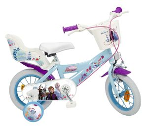 12 Zoll Kinder Mädchen Fahrrad Kinderfahrrad Mädchenfahrrad Mädchenrad Rad Disney Elsa Frozen die Eiskönigin II Toimsa