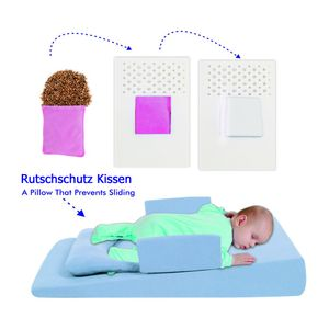Baby Anti - Reflux Bett BLAU Kirschkernkissen Keil Bett Kissen Kinderbett 9021-1