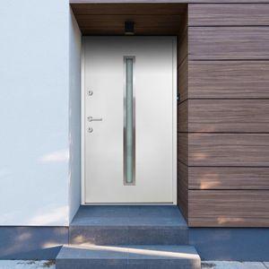 Hochwertigen Haustür / Tür Aluminium Weiß 90x200 cm