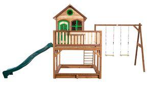 AXI Spielhaus Liam (mit Doppelschaukel) Gartenspielhaus auf Stelzen, braun; A030.153.00
