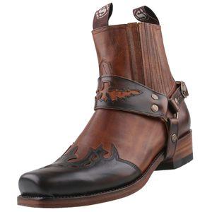 Sendra Cowboy Stiefelette 7811 Braun, Schuhgröße:EUR 44