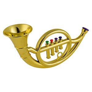 Muslady Kinder Blasinstrumente Waldhorn mit 4 Farbigen Tasten für Kleinkinder