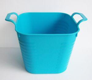 TISCHABFALLEIMER 12cm Kunststoff Papierkorb Kosmetikeimer Mülleimer 34 (Blau)