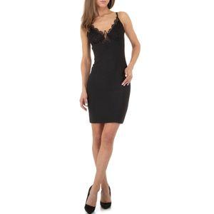 Ital-Design Damen Kleider Cocktail- & Partykleider Schwarz Gr.m