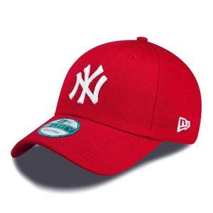 New Era Cap 9FORTY League Basic NY Yankees Scarlet/White Kids Youth, Cap:Kids
